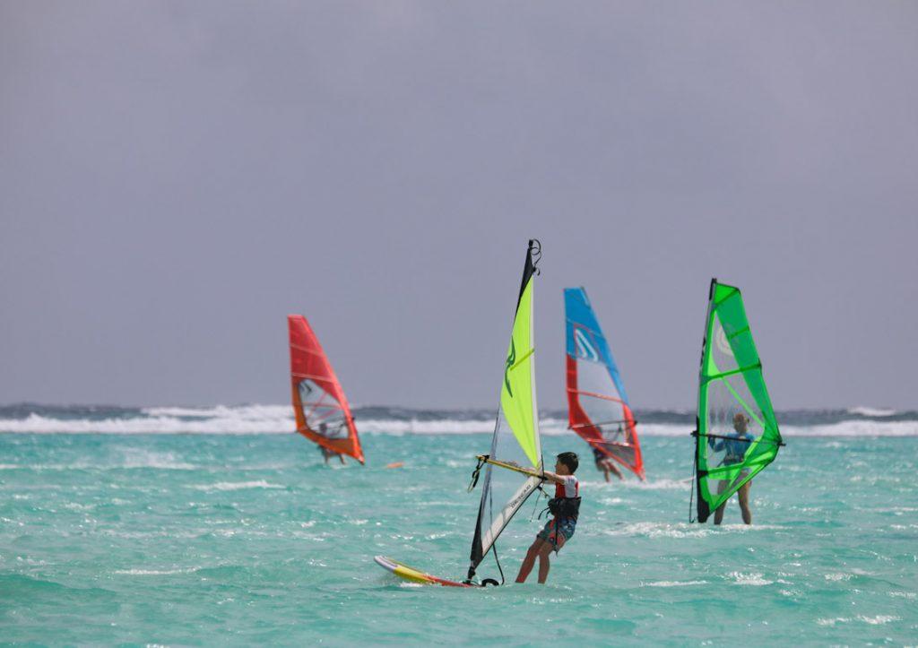 windsurfen op Bonaire